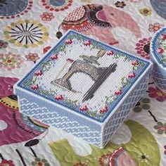 BOX plastic canvas patterns free tissue box cross stitch