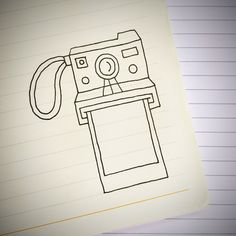 Einfach Zeichnungen An Instant Camera doodle. For more doodle ideas watch Appy Doodles on You. Cute Easy Drawings, Cool Art Drawings, Art Drawings Sketches, Doodle Drawings, Drawing Ideas, Tumblr Drawings Easy, Simple Doodles Drawings, Cute Easy Doodles, Easy Doodles To Draw