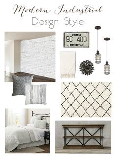 Inspiration board for a Modern Industrial Room. Beautiful neutral palette with natural and modern elements. Guest Room Decor, Diy Home Decor Bedroom, Small Room Bedroom, Spare Room, Bedroom Ideas, Big Girl Bedrooms, Guest Bedrooms, Cool Diy Projects, Modern Industrial