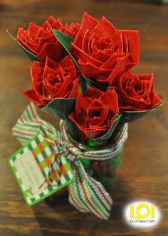 duct tape rose bouquet