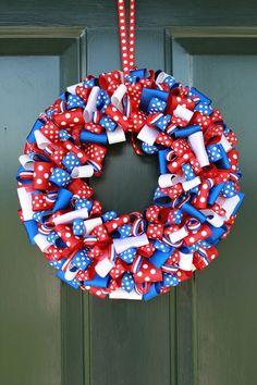 Red, White & Blue Ribbon Wreath
