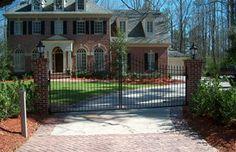 #brick #columns #driveway #decorative #GA