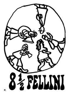 8,5 - Fellini, Polish Poster, Jan Mlodozeniec