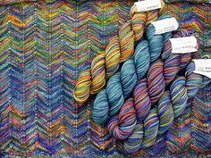 Koigu yarn, great color combination