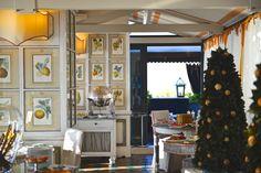 View of restaurant of Hotel Villa Carlotta, Taormina, Sicily