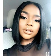 sales online with Lace Front Wig Short Bob Wigs for Black Women Full Lace Front Wigs Silky Straight Human Hair Bob Short Pixie Cut Wig fast shipping worldwide. Sew In Hairstyles, Cool Short Hairstyles, My Hairstyle, Beautiful Hairstyles, Black Girl Bob Hairstyles, Hairstyles Pictures, Short Bob Wigs, Short Hair Cuts, Short Pixie
