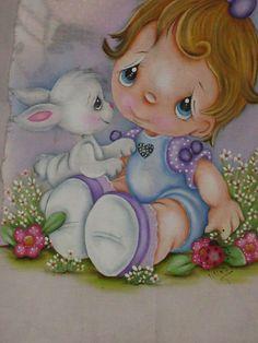 Mão Amiga                                                       … Baby Painting, Nursery Paintings, Cute Paintings, Tole Painting, Painting For Kids, Fabric Painting, Nursery Art, Baby Cartoon, Cute Cartoon