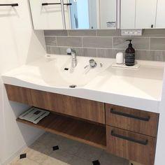 Bathroom Design Luxury, Washroom, Powder Room, Double Vanity, Sink, Sweet Home, New Homes, How To Plan, Interior Design