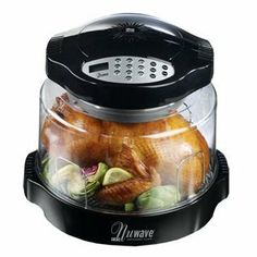 The NuWave quickly and easily cooks foods while keeping them moist on the inside, and crisp and browned on the outside with out using any fats or oils.