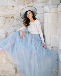 Swooning over this color of the year {Serenity} inspired bridal style shoot on @greenweddingshoes today. Skirt now available in Online Shop color Chilled Blue. Top @thedresstheory. Photo @thismodernromance. Stylist @chloe_delgadillo. Hair & makeup @kcwitkamp. #tulleskirt #maxiskirt #space46doesbridal #serenity #styleshoot #bridetobe #lace #tulle #pantone by space46boutique