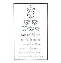 視力検査の動物アイコン版。かわゆす。(via EYE CHART IN BLACK)