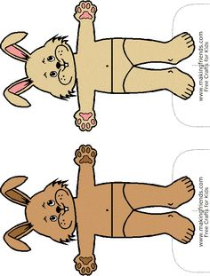 bunny paper dolls