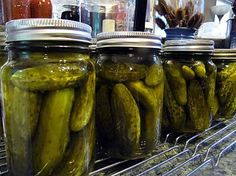 Sweet Gherkin Pickles Canning Recipe (takes multiple days)
