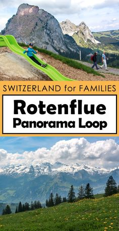 Families can enjoy panoramic views on this short loop trail at the top of Rotenflue, with multiple mountain restaurants, a playground and fire pits.