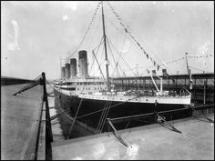 """oceanicsteam: """"A fantastic shot of the Olympic at pier. Titanic Underwater, Rms Titanic, Ball Dresses, Cool Cars, Olympics, Ships, Ocean, History, City"""