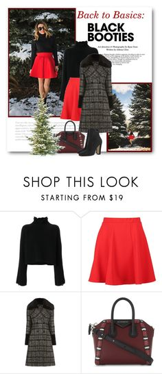 """""""Back to Basics: Black Booties"""" by bliznec ❤ liked on Polyvore featuring Golden Goose, Boohoo, Givenchy, BEA, Winter, blackbooties, polyvoreeditorial and polyvorecontest"""