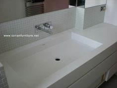 Corian Integrated Bathroom Sinks | Corian acrylic solid surface basin integrated sink, View corian sink ...