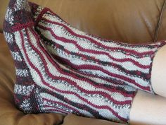 Ravelry: knitsabout's freeform short row socks #3