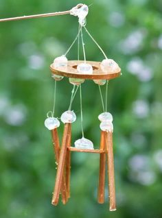 how to: fairy garden windchimes