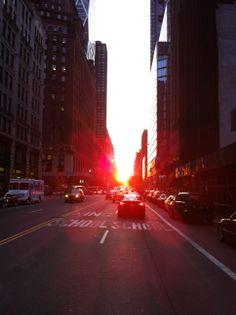 #Manhattanhenge W.57th &  5/29/12 8pm