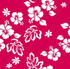 hibiscus flower print vector art illustration