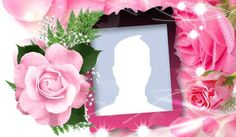 Linda moldura de rosa cor de rosa! 3d Paper Flowers, Borders And Frames, Wine Glass, Collage, Facebook, Chocolate, White Orchids, Red Roses, Rose Buds