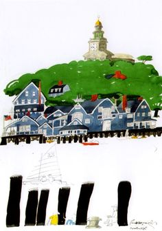 Paul Hogarth Gravure Illustration, Illustration Art, Urban Landscape, Landscape Art, Watercolor Sketch, Watercolor Paintings, Grand Canal Venice, Giza, Travel Images