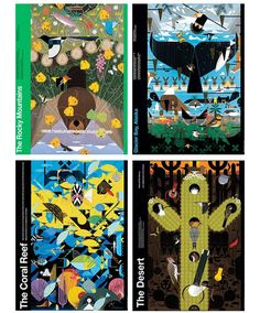 National park posters by Charlie Harper.  I would love these for my house....