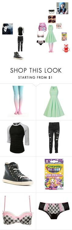 """""""sam and kat"""" by never-let-you-steal-my-coffin on Polyvore featuring LE3NO, R13, Yves Saint Laurent and ADAM"""
