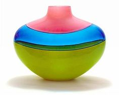 Simple, but close to perfect colors and shape. -- art glass by Michael Trimpol