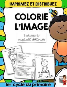 FRENCH/Colorie l'image du printemps (color the image) French Education, Education And Literacy, How To Speak French, Learn French, Teaching French Immersion, Core French, French Classroom, French Resources, Phonological Awareness