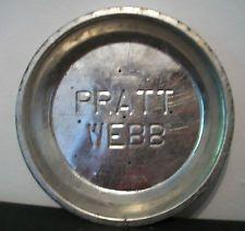 Vintage Pratt Webb Advertising Metal Pie Plate Pie Tin Aluminum Used Vented
