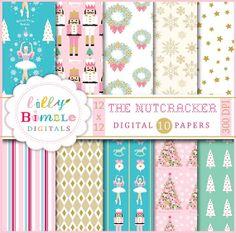 Digital papers for Christmas THE NUTCRACKER by LillyBimble on Etsy, $5.00