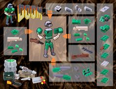 All sizes | Building Guide: DOOM Guy | Flickr - Photo Sharing!