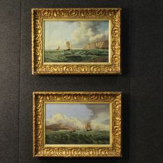 1450€ Pair of French paintings signed and dated 1878. Visit our website www.parino.it #antiques #antiquariato #painting #art #antiquities #antiquario #canvas #oiloncanvas #seascape #quadro #dipinto #arte #tela #decorative #interiordesign #homedecoration #antiqueshop #antiquestore