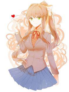 Monika <3 ~ By Kuso Coobie : DDLC