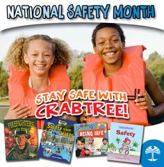 June is National Safety Month. Great selection of books on staying safe at home, work and play!