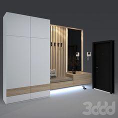 models: Hallway - Composition in the Wardrobe Door Designs, Wardrobe Design Bedroom, Bedroom Bed Design, Bedroom Furniture Design, Home Room Design, Home Design Decor, Modern Interior Design, House Design, Hallway Designs