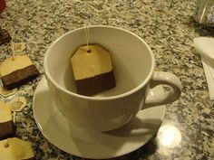 Tea bag shortbread cookies. How cute!