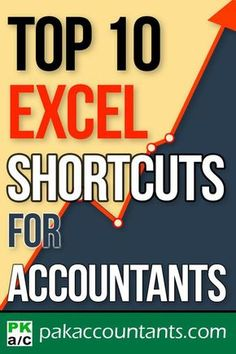 Top 10 Excel keyboard Shortcuts for Accountants Free Excel tutorials, tips and tricks. Downloadable templates, workbooks and cheatsheets