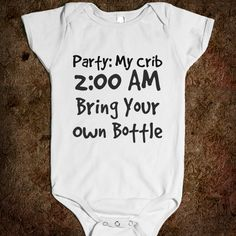 Party:My Crib 2am Bring Your Own Bottle One-Piece
