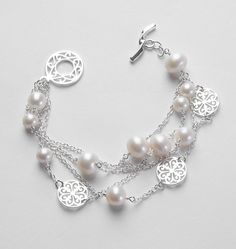 Southern Gates 3 Strand bracelet with Pearls