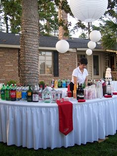 pre bbq party for wedding party.