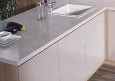 Cosmic White - With its highly realistic quartz effect and gloss finish, Cosmic White can help bring a sparkle to a kitchen. To order samples of the EGGER decor F180 Cosmic White go to: http://www.egger.com/UK_en/decor/?N=4294967265+21&Ntt=Cosmic+White