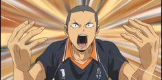 tanaka's face. Tanaka Haikyuu, Karasuno, Manga, Face, Anime, Manga Anime, Manga Comics, The Face, Cartoon Movies
