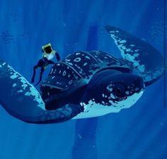 Risultati immagini per abzu Giant Sea Turtle, Underwater Ruins, Games Journey, Leagues Under The Sea, Ocean Wallpaper, Human Art, Another World, Dieselpunk, Deep Sea