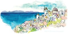 Town of Oia, Santorini by The Artist on the Road, via Flickr
