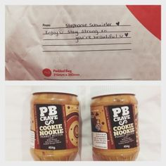 ahhhhh look what arrived today!  @PB Crave cookie nookie peanut butter from @steph_recovering  it tastes sooooo good!