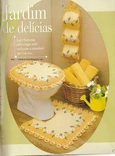 Ateliê do Barbante: Jogo de banheiro com fotos e gráfico