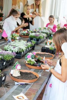 Letting your kids create their very own fairy garden is a great way to get them outside and interested in gardening!